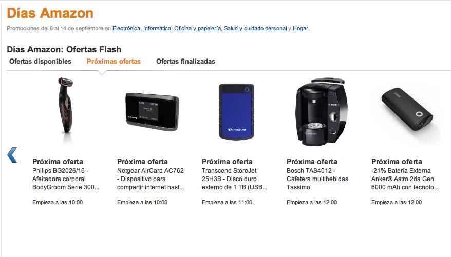 Promocíon dias Amazon