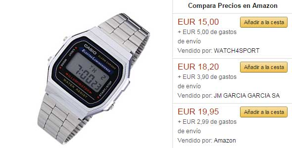 Chollos en Amazon Casio A168W