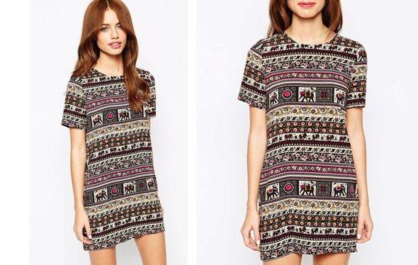 Código descuento en Asos Glamorous-Petite-Print-T-Shirt-Dress