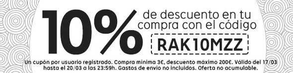 Código descuento del 10% en Rakuten
