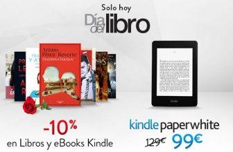 Día del Libro: Kindle Paperwhite por 99 euros