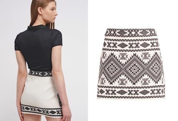 Topshop-ALINE---Minifalda---cream