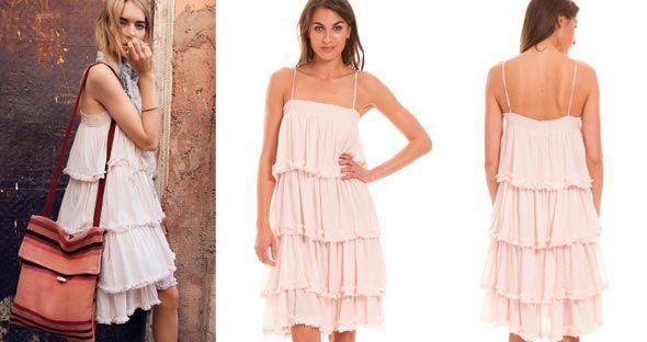 Vestido Ibicenco de volabtes de Vila Clothes - Shopping Night - Descuentos en Moda
