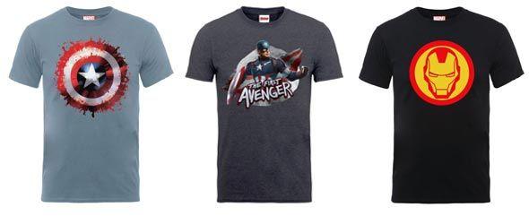 Camisetas Marvel baratas