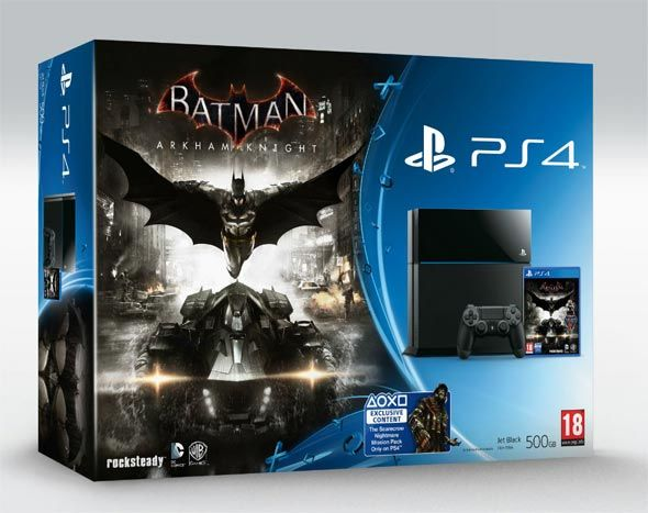 Playstation 4 500Gb + Batman Arkham Knight por 347 euros