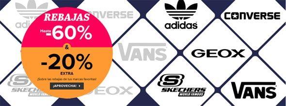 Rebajas extra en Converse, Geox, Vans, Skechers y Adidas 1