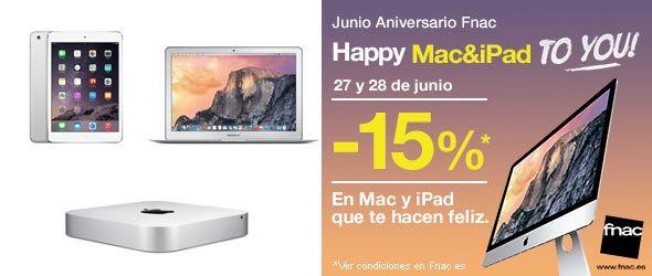 Descuento 15% en Mac & iPad
