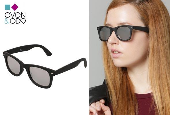 Gafas-de-sol---rubberized-black-mirror