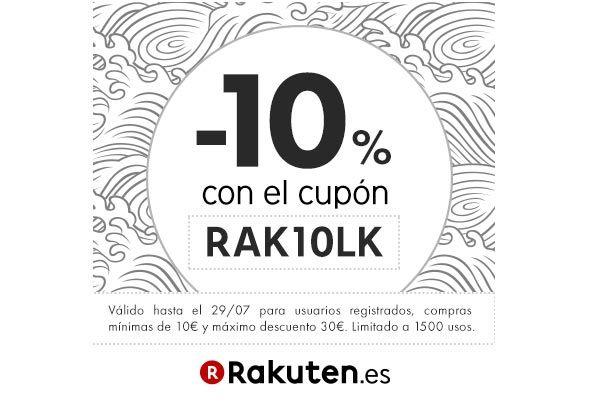 Cupón descuento Rakuten hasta el 29 de julio