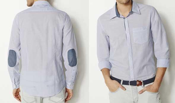 Camisas baratas para hombre Camisa-a-rayas-corte-ajustado-algodón