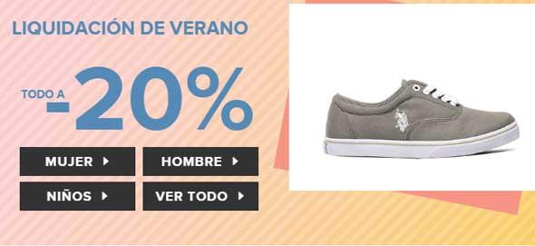 Liquidación zapatos online 20% descuento 2