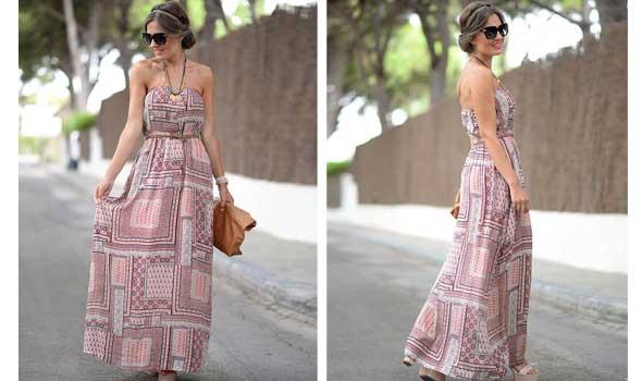 Maxi vestido estampado de Vila Clothes