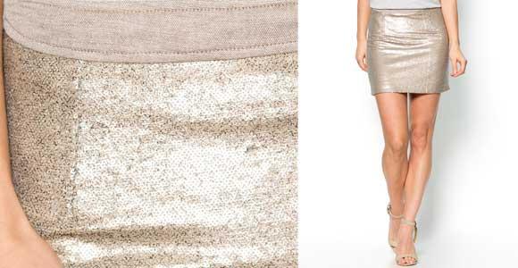 Falda con lentejuelas - Liquidación de stock de ropa online