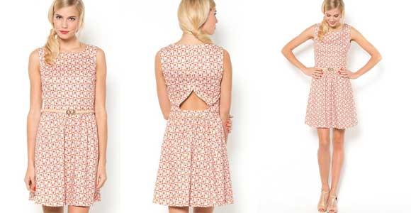 Vestido sin mangas, estampado - Liquidación de stock de ropa online