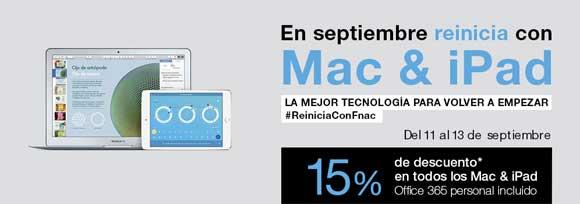 15% de descuento en Mac y iPad en Fnac