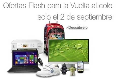 Ofertas Flash Amazon para la Vuelta al cole
