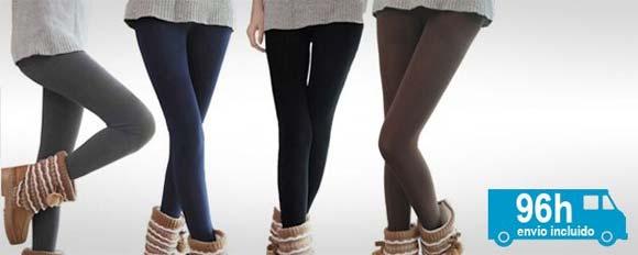 Pack de 5 leggins térmicos de mujer 22€