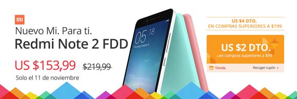 AliExpress ofertas - Redmi Note 2