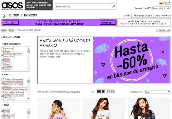 La moda online se apunta al Black Friday Asos