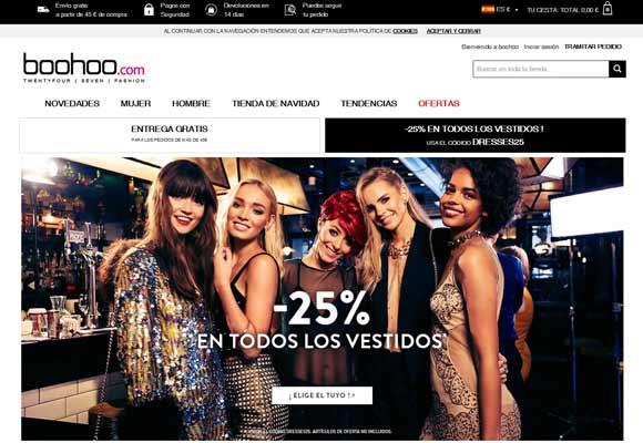 La moda online se apunta al Black Friday Boohoo