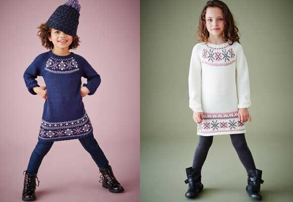Vestido-jersey-motivos-jacquard-niña-colores