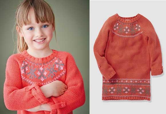 Vestido-jersey-motivos-jacquard-niña