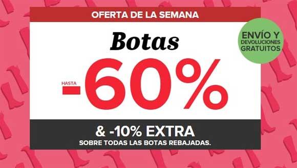 Ofertas en botas - Hasta un 60% + 10% adicional