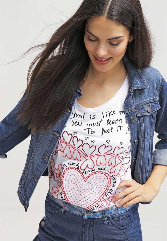 Desigual-LALIA---Camiseta-print---blanco
