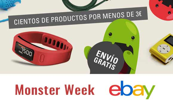 Monster Week en eBay. Ofertas por menos de 3€
