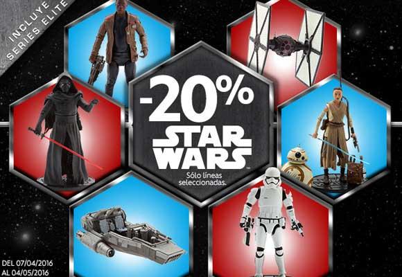 Star Wars: oferta 20% de descuento en DisneyStore