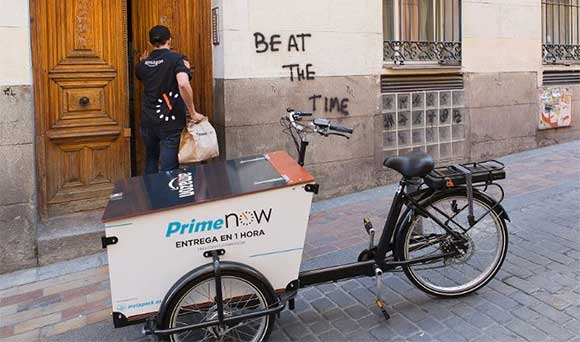 Amazon Prime Now entregas ultra-rápidas en Madrid