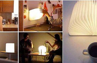 Lámpara portátil con forma de libro