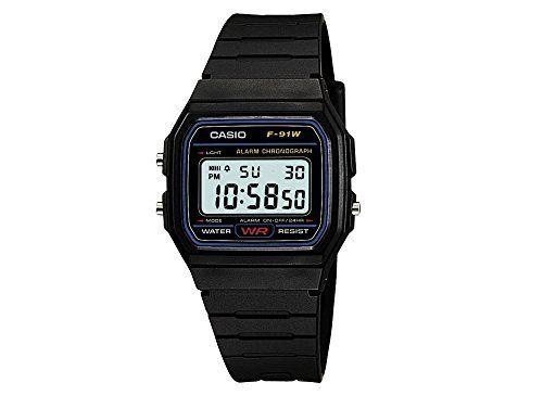 Casio Collection – Reloj Hombre Correa de Resina F-91W-1YER Relojes