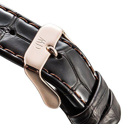 Daniel Wellington 1102DW Reloj con correa para hombre, color blanco/marrón oscuro