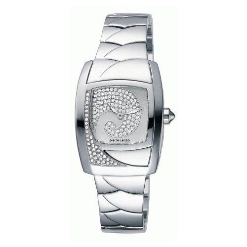 Pierre Cardin PC100332F07 – Reloj analógico de mujer de cuarzo con correa de acero inoxidable plateada – sumergible a 30 metros Relojes Pierre Cardin