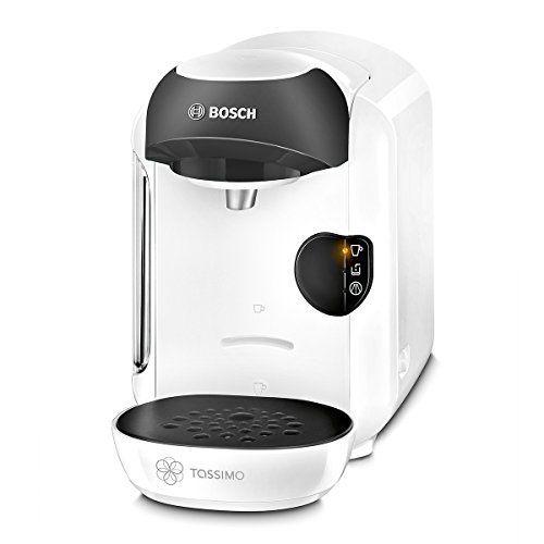 Bosch TASSIMO Vivy TAS1254 – Cafetera multibebidas automática de cápsulas, diseño compacto, color blanco y negro