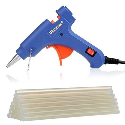 Blusmart Mini Pistola de silicona on 25 piezas Barras de pegamento Alta temperatura kit de pistola de pegamento una alternativa flexible para Bricolaje y herramientas