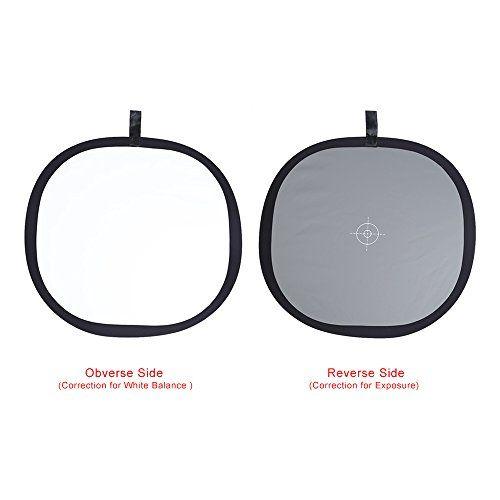 Andoer® 30 cm/30,48 cm Plegable Gris/Balance de Blancos 18% gris Reflector con Bolsa de Transporte de Referencia