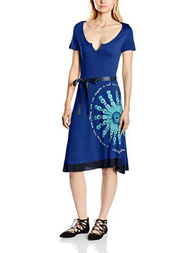 Desigual 55V21G1 - Vestido, con manga corta para mujer, color royal 5010, talla 38