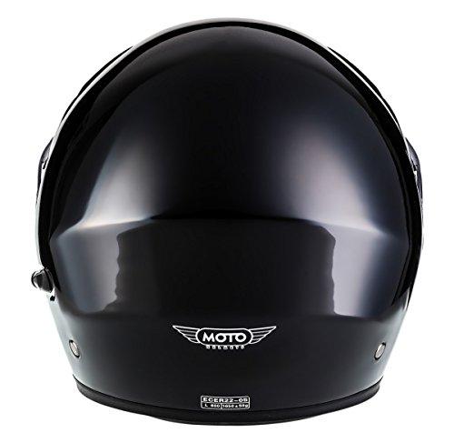 MOTO HELMETS F19 Gloss Black Sport Casco da Motocicleta Modulare Integrale Scooter Modular-Helmet Cruiser Urbano Urban Moto Flip-Up, ECE Certificado,