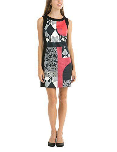 Desigual VEST_DELIA - Vestido para mujer, color negro, talla 46