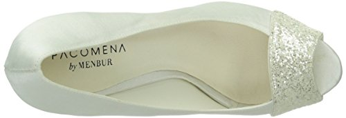 Paco Mena Inma – Zapatos de vestir de raso para mujer