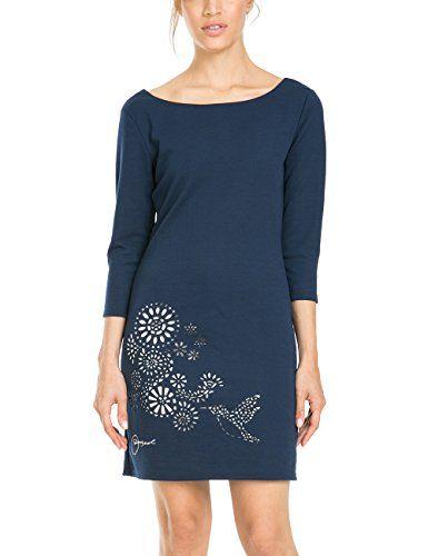 Desigual VEST_AMARYLLIS - Vestido mujer, color multicolor (navy 5000), talla FR: 36 (Talla del fabricante: XS)