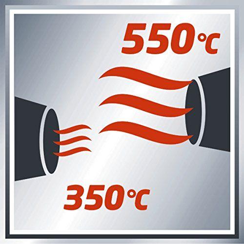 Einhell TH-HA 2000/1 – Decapador (potencia 1000- 2000 W, temperatura 1: 350° C, temperatura 2: 550° C, caudal aire 1: 300 l/min, 2: 500 l/min)