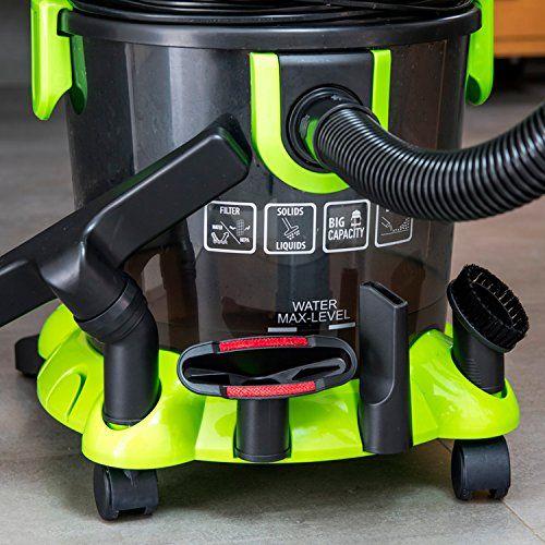 Aspirador de sólidos y líquidos Wet&Dry de Cecotec. 1400 W. Filtro HEPA y filtro de agua. Regulador de Potencia. Función sopladora. Capacidad 15 l.