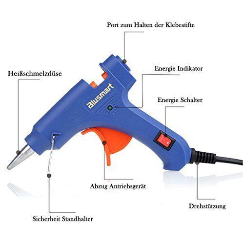 Blusmart Mini Pistola de silicona on 25 piezas Barras de pegamento Alta temperatura kit de pistola de pegamento una alternativa flexible para