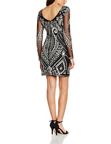 Frock and Frill Embellished Shift, Vestido para Mujer, Black, ES 44 (UK 16)