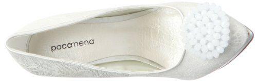 Paco Mena Marina 04753 – Zapatos de novia de tela para mujer