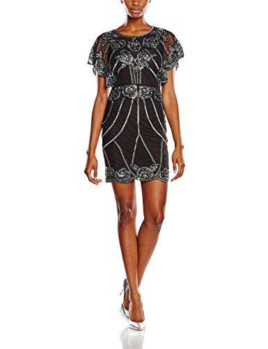 Frock and Frill Afua, Vestido para Mujer, Black, ES 42 (DE 40)
