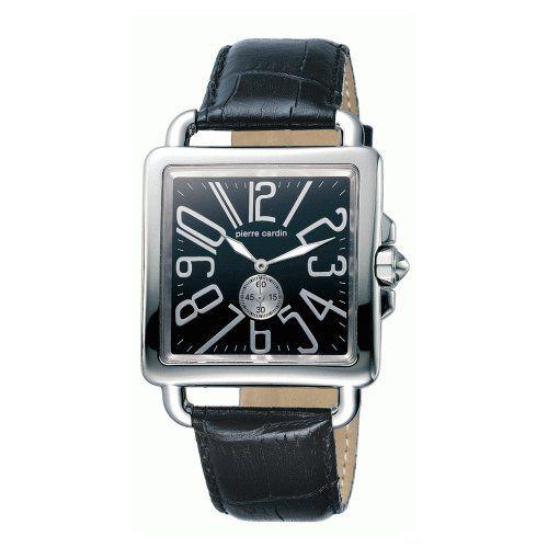 Pierre Cardin PC068801001 - Reloj analógico de caballero de cuarzo con correa de piel negra - sumergible a 30 metros